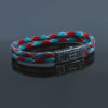 MARINE FLAT – DOUBLE ROPE – GREEN&RED&WHITE